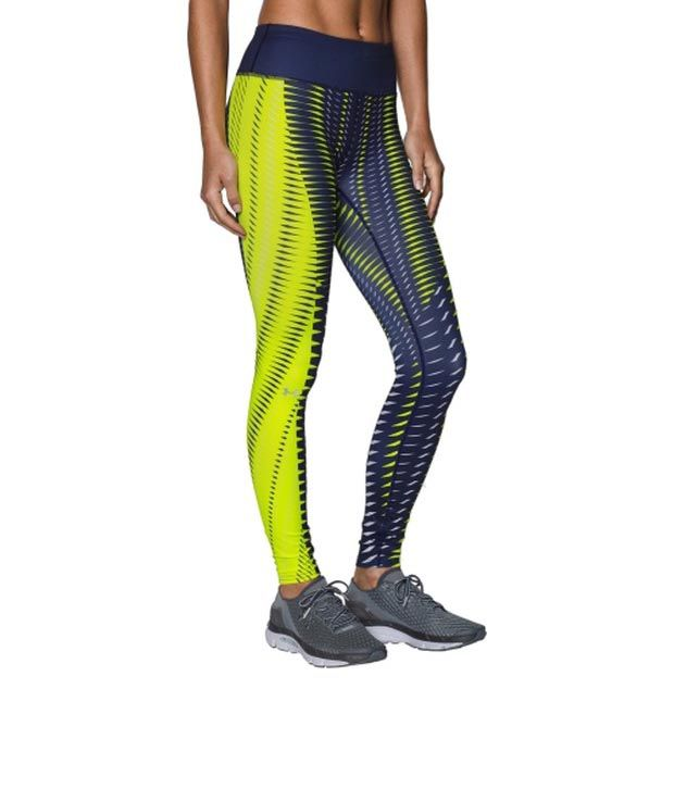Under Armour Under Armour Women's Fly-by Engineered Printed Leggings Black/white