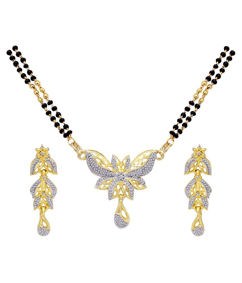 Atasi International Golden & Silver Alloy Mangalsutra Set