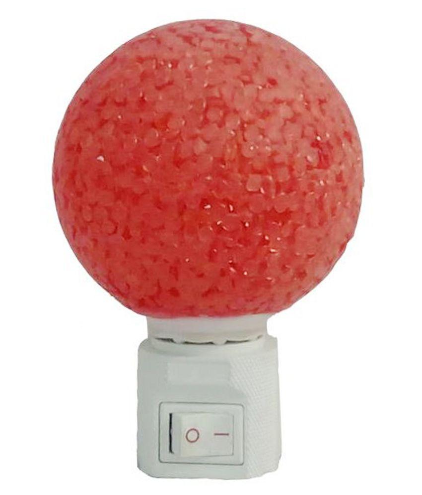 Elegant Red Acrylic Round Night Lamp - 10w
