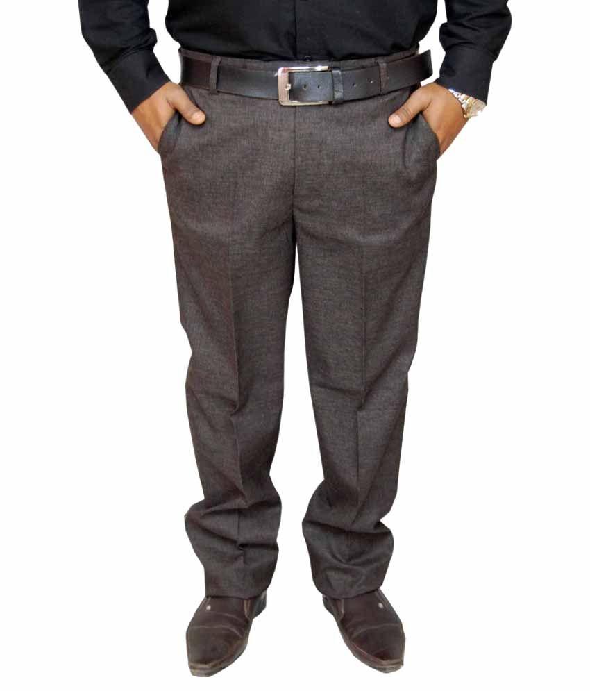 Fabulous Brown Regular Fit Formal Trouser