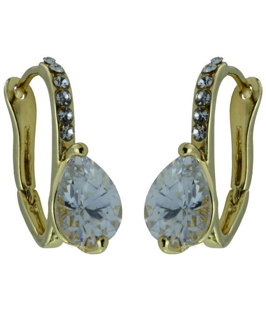 High Trendz Golden Designer Huggies Earrings