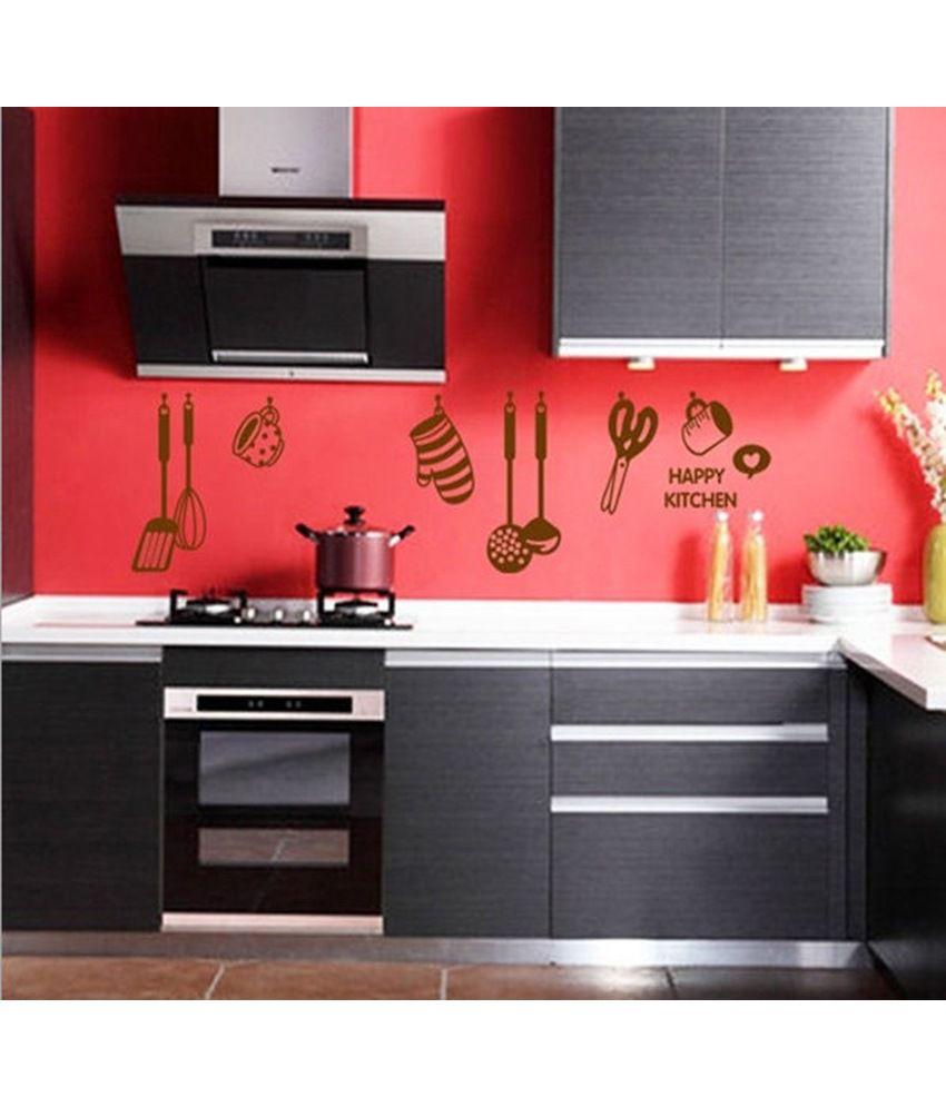 stickerskart wall decals stylish kitchen design wall sticker buy rh snapdeal com