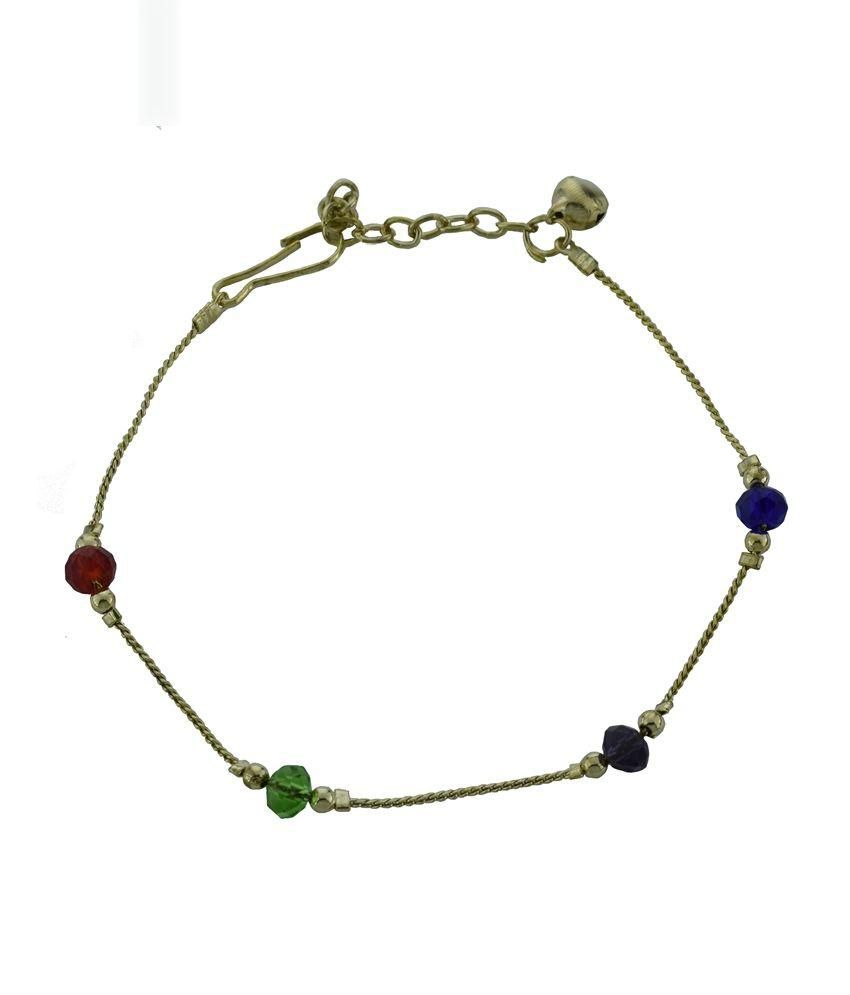High Trendz Multicolour Era Copper Anklet For Women