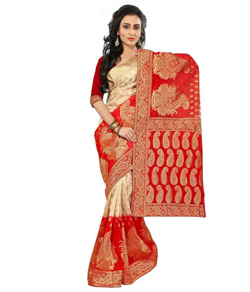 8813fa5011 India Ethnic Store Red Silk Saree - Buy India Ethnic Store Red Silk Saree  Online at Low Price - Snapdeal.com