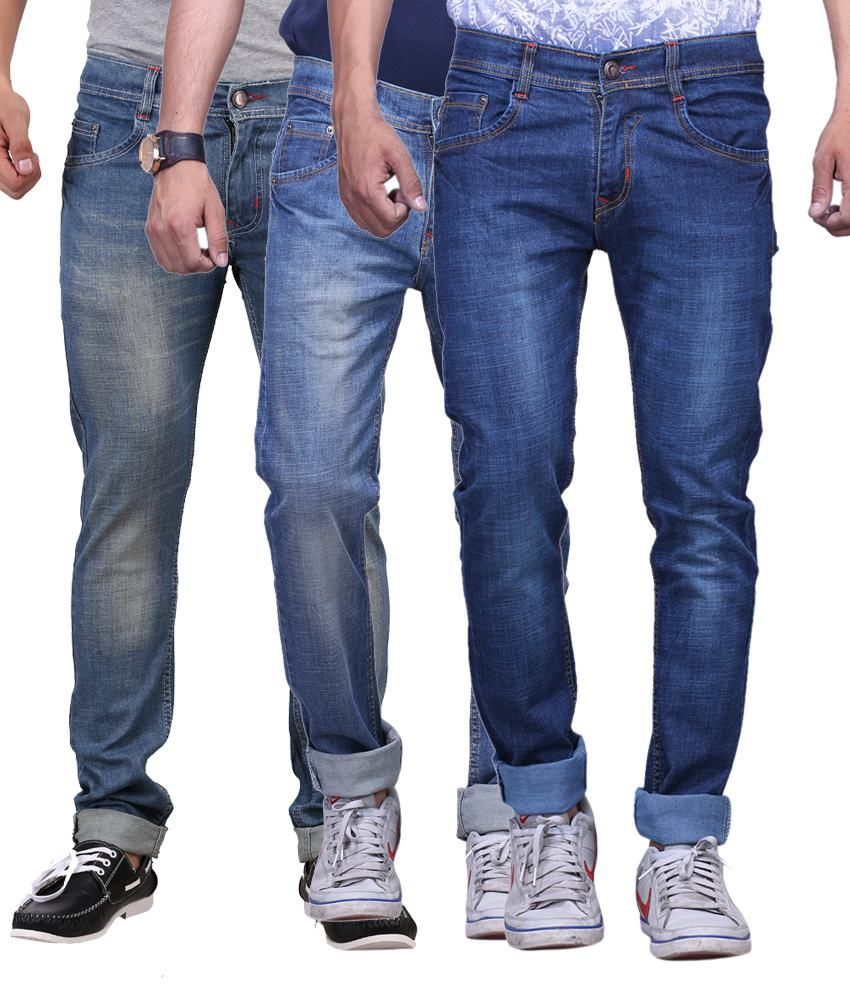 X-cross Blue Slim Fit Jeans - Set Of 3