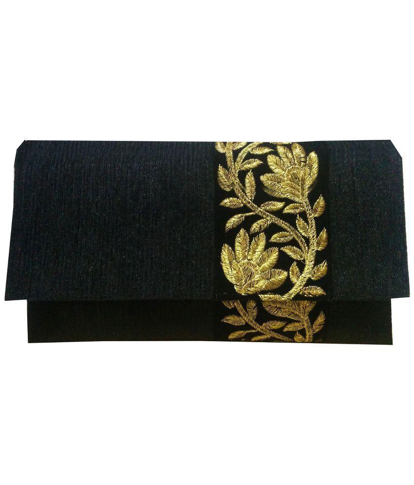 Angelfish Black Fabric Clutch