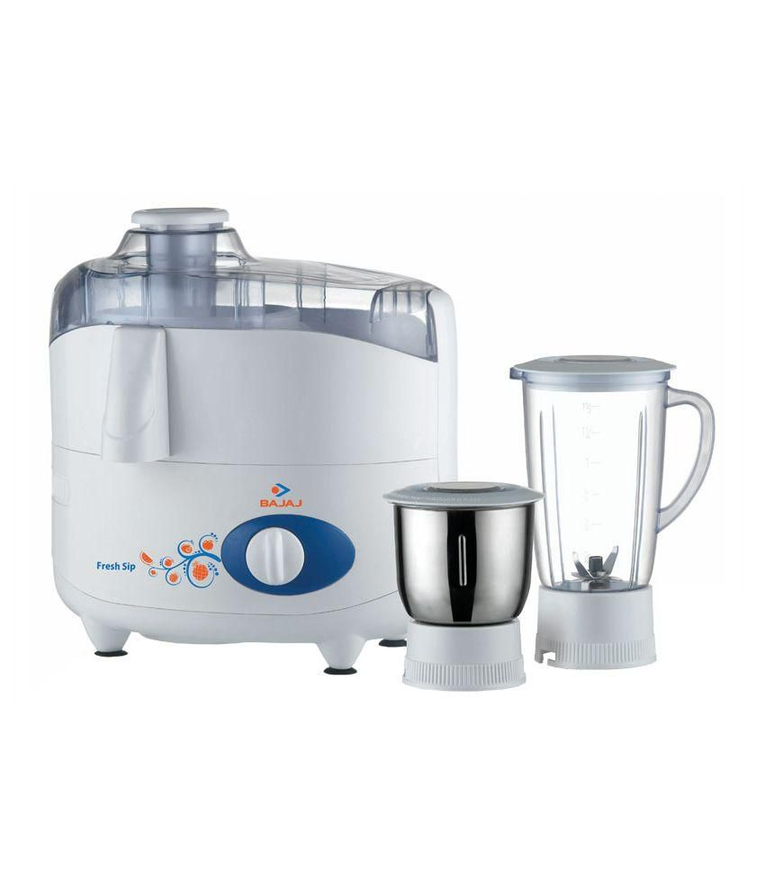 Bajaj Fresh Sip Juicer Mixer Grinder White