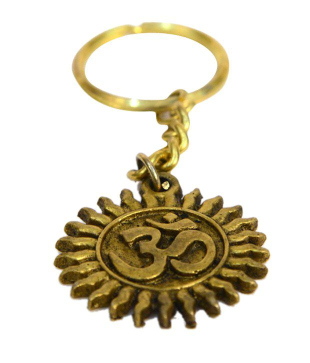 Bharat Haat Brass Om Key Chain