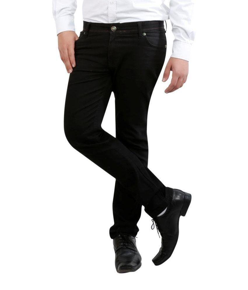 Fashion N Style Black Slim Fit Casual Trouser