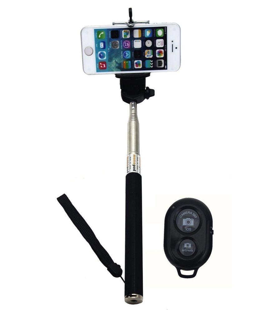 mobssories bluetooth selfie stick for micromax canvas doodle 3 a102 black selfie sticks. Black Bedroom Furniture Sets. Home Design Ideas