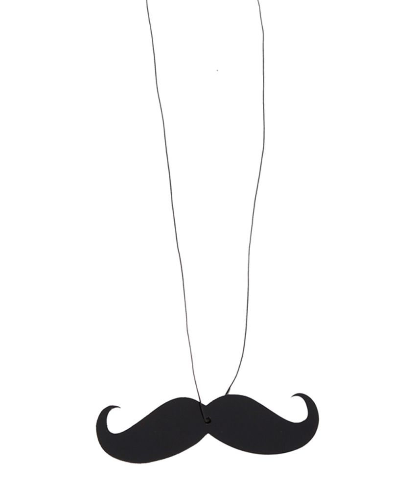 Outdazzle Acrylic Mustache Hanging For Universal Car Black