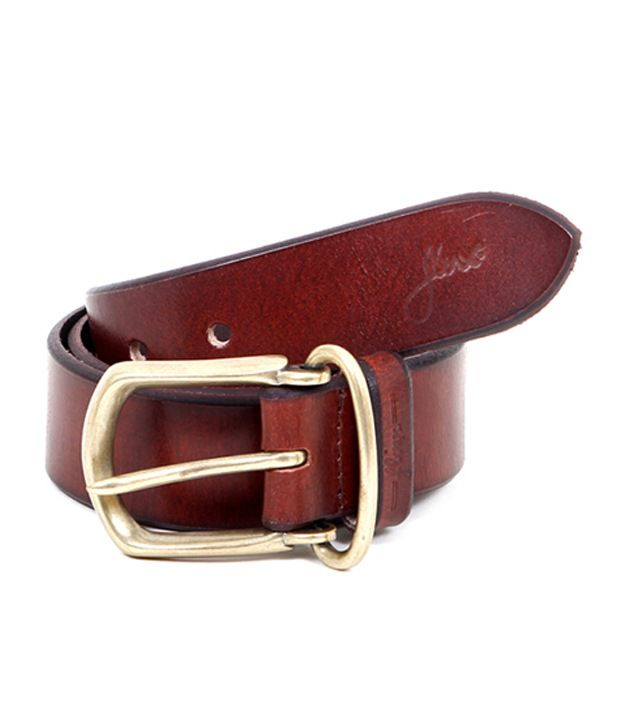 Flinx Maroon Casual Belt  for Men