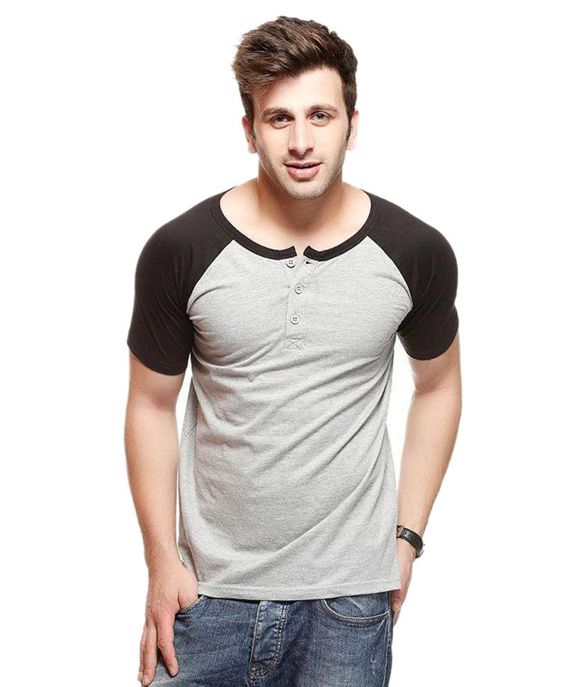 Gritstones Grey Cotton T-Shirt