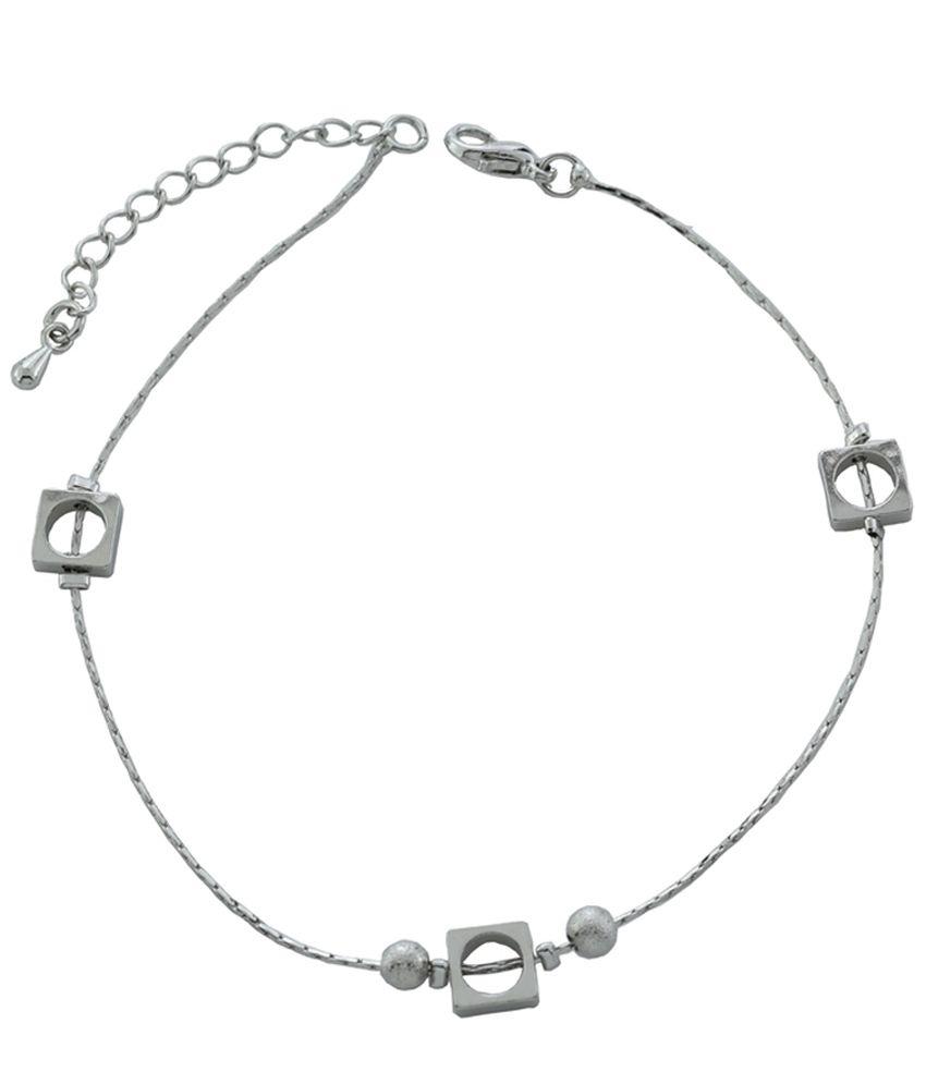 High Trendz Silver Alloy Anklet