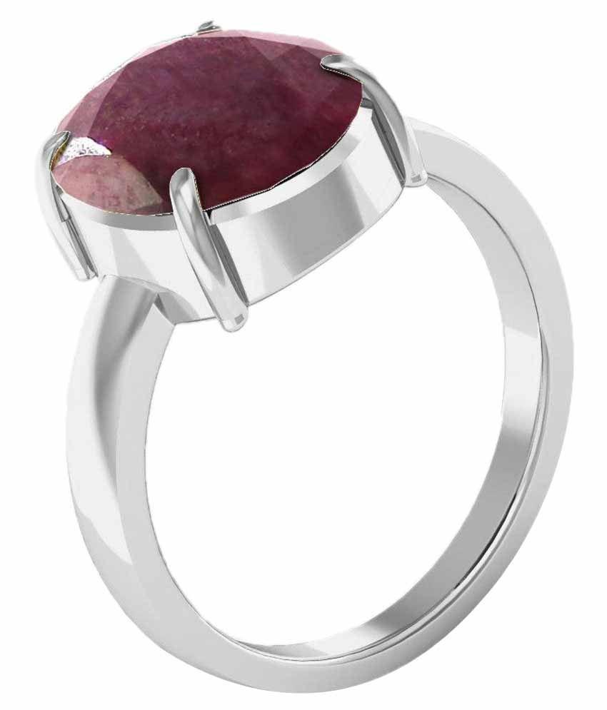 Kiara 92.5 Sterling Silver 3.25 Ratti Ruby Ring