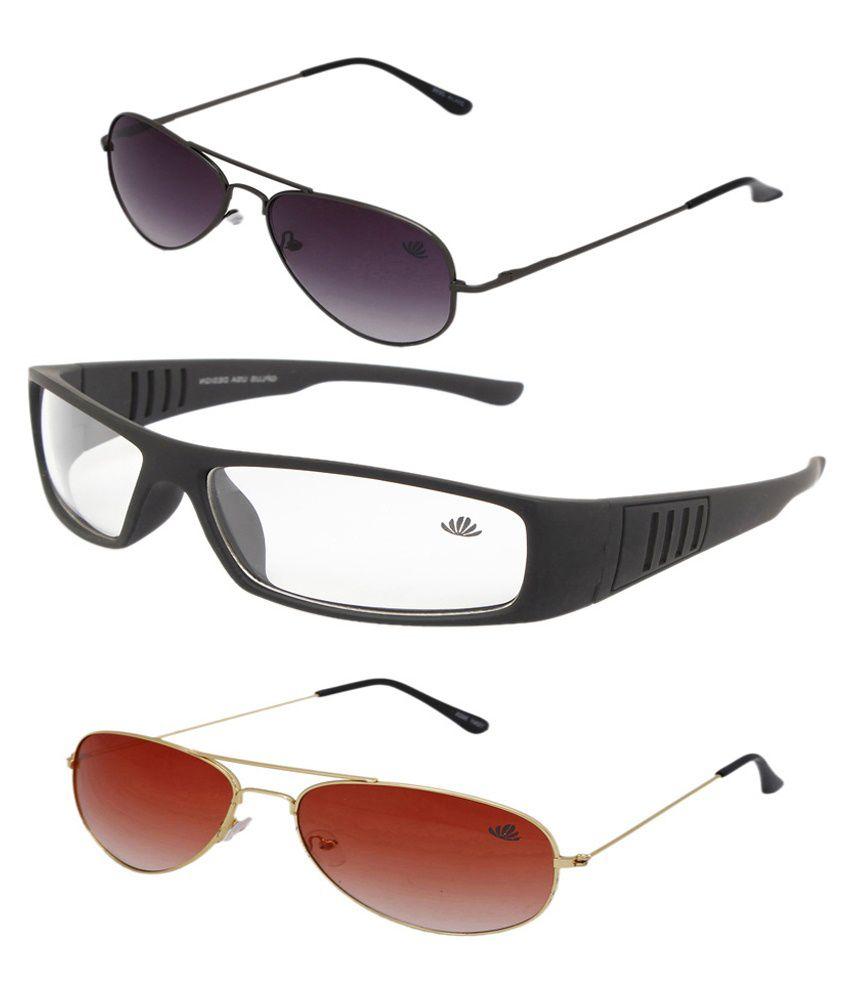 Abloom Combosg001 Multicolour Metal Sunglasses
