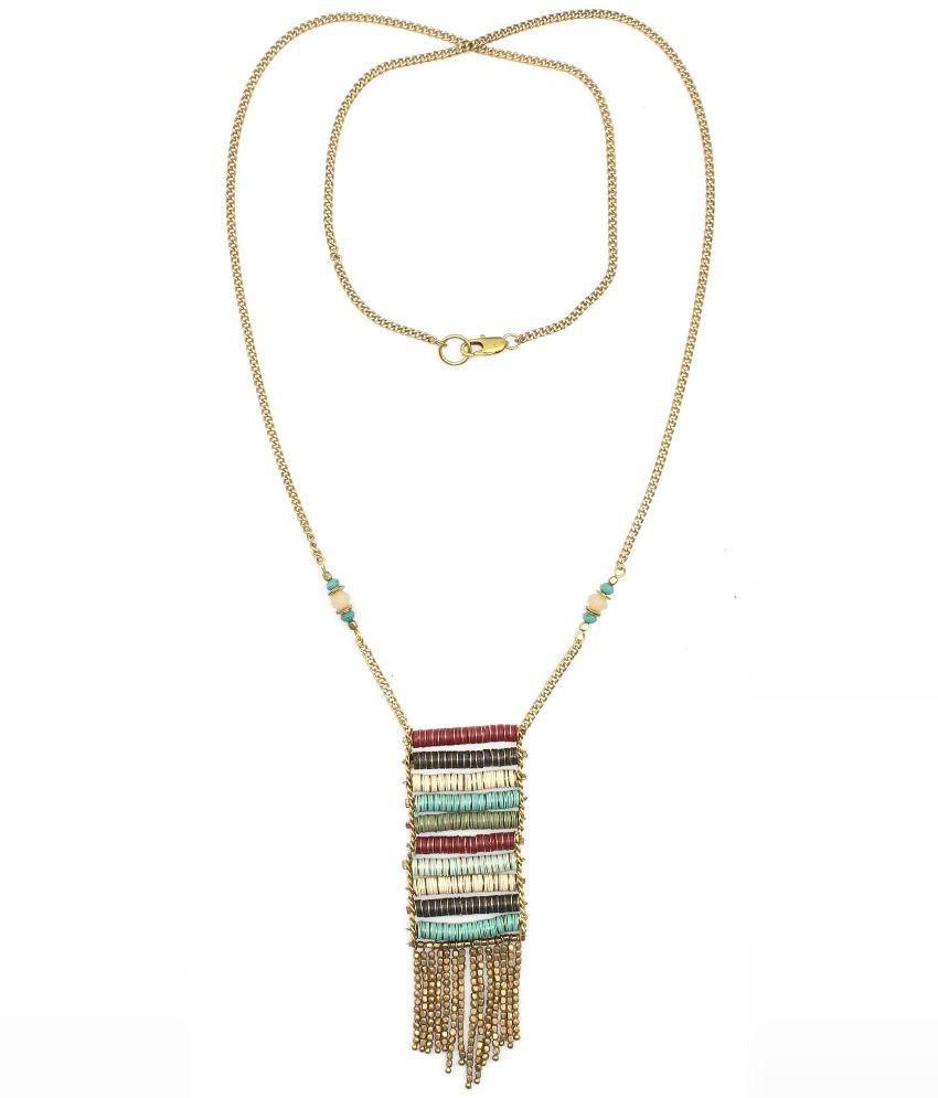 Poetry Accessories Multicolour Brass Designer Necklace