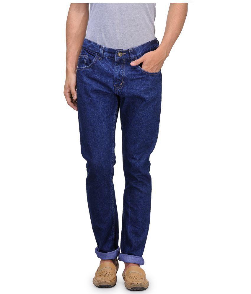 Jovial Mart Blue Cotton Slim Fit Jeans