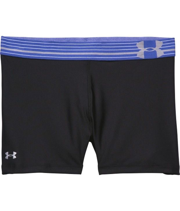 Under Armour Under Armour Black And Grey Womens Heat Gear Armour Compression Shorts (pack Of 2)