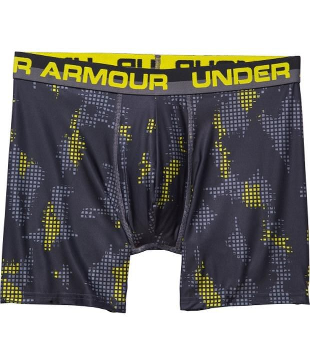 Under Armour Under Armour Blue Mens Combine Training Original Printed Boxerjock Boxer Briefs