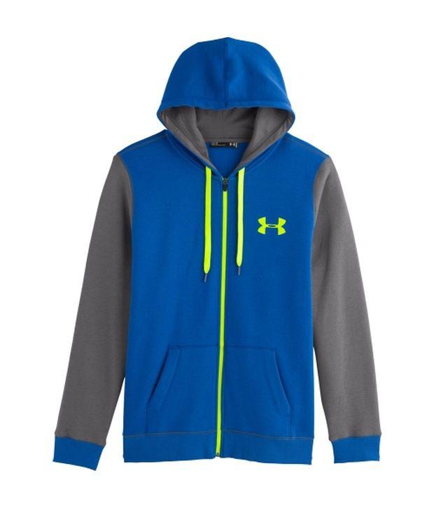 Under Armour Under Armour Blue Mens Rival Cotton Full Zip Sweatshirt