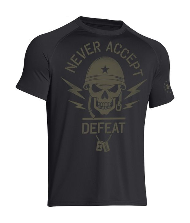 Under Armour Under Armour Grey Mens Ua Freedom Army Graphic T-shirt