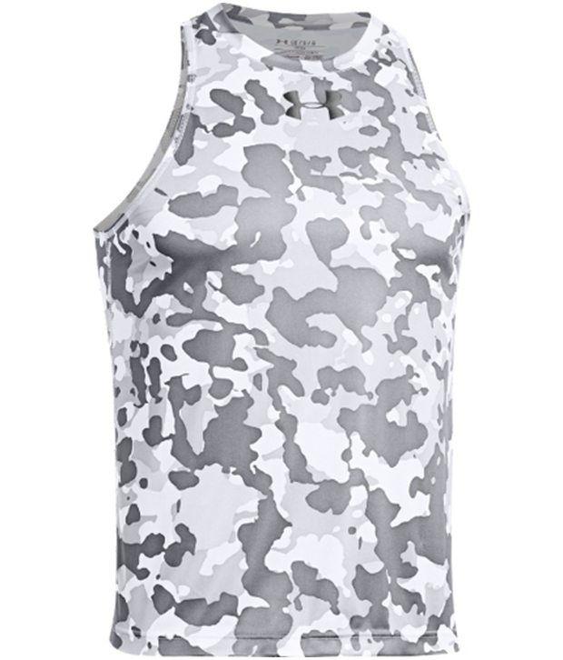 Under Armour Under Armour Grey Mens Renegade Camo Basketball Sleeveless Tank