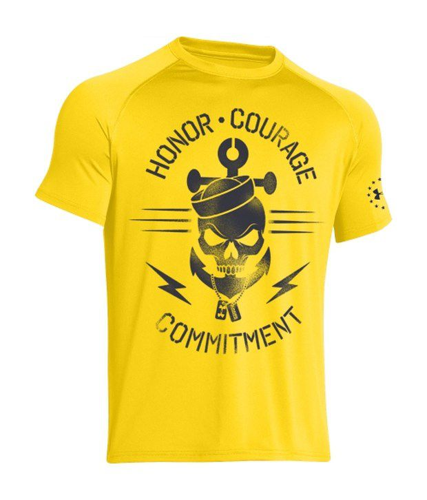 Under Armour Under Armour Yellow Mens Ua Freedom Navy Graphic T-shirt