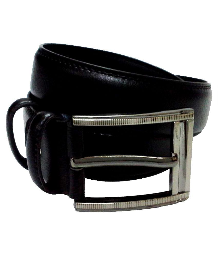 Jaydee India Designer Belt Black Leather Buckle Belt