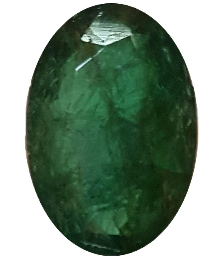 Jain Jewellers GSI Certified Green Emerald (Panna) Precious Natural ...