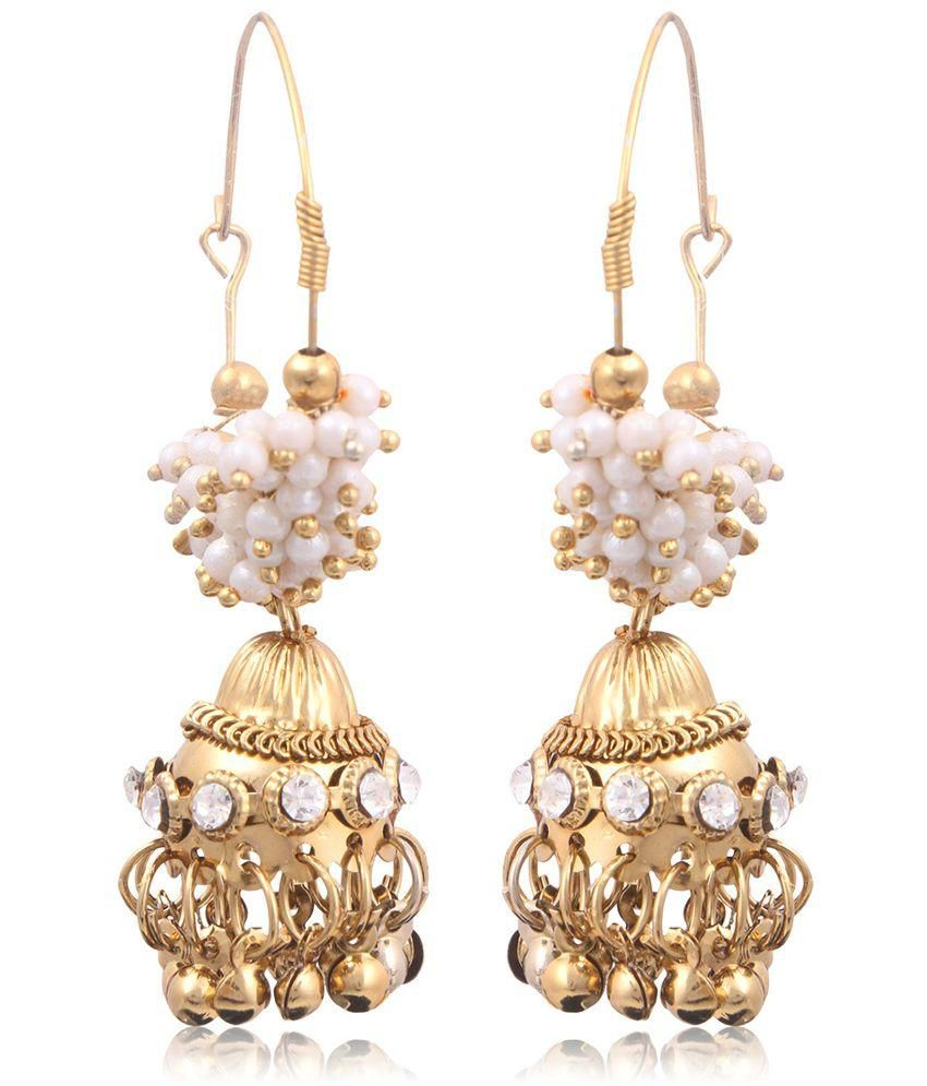 Ruhi jewels Antique Golden Hanging Earring