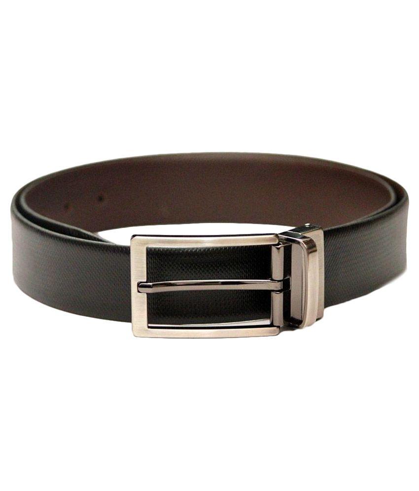 Tops Black Formal Leathe Belt