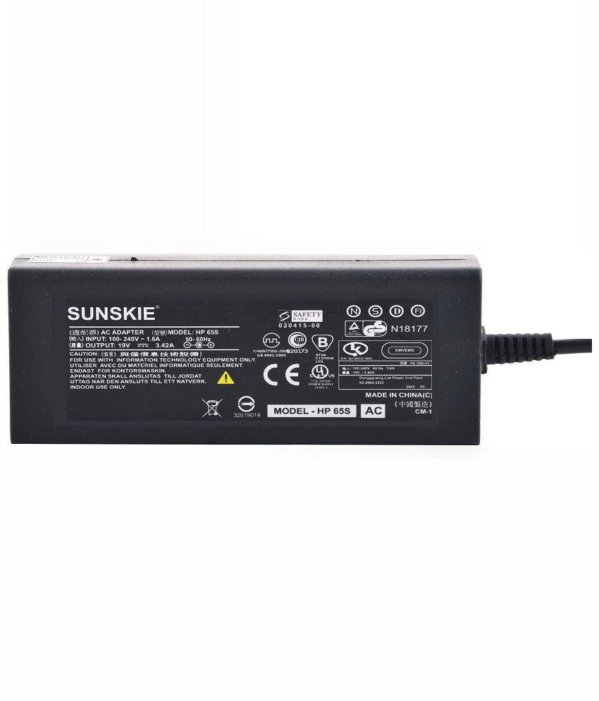 Sunskie 65W Laptop Adaptors for HP Compaq Presario C315la - Black