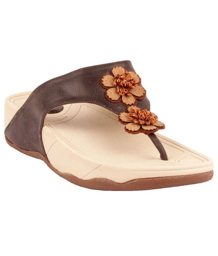 Glam Walk Brown Ethnic Slip On