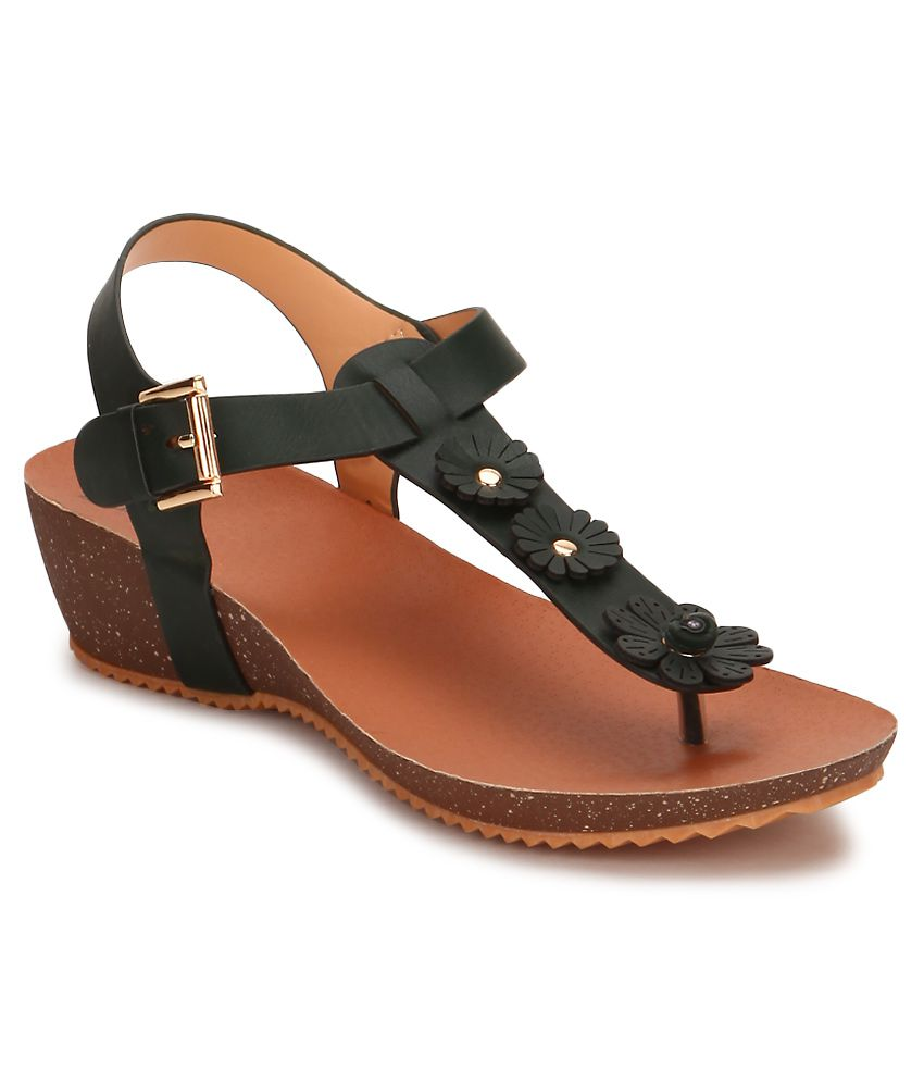 Flaunt By Femina Brown Heeled Sandals