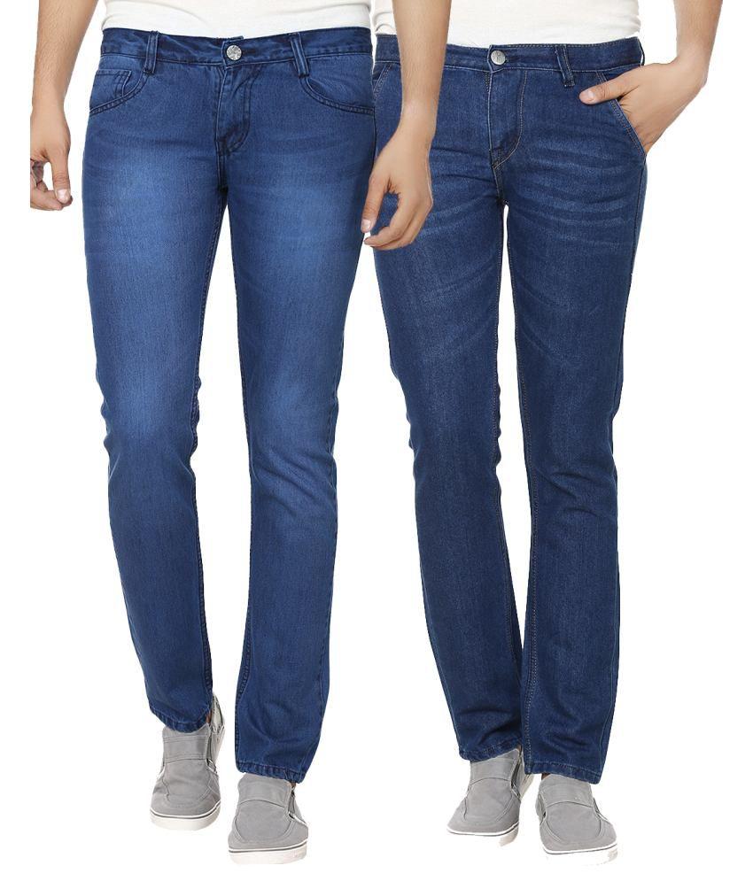 Ben Carter Blue Slim Fit Jeans - Pack Of 2