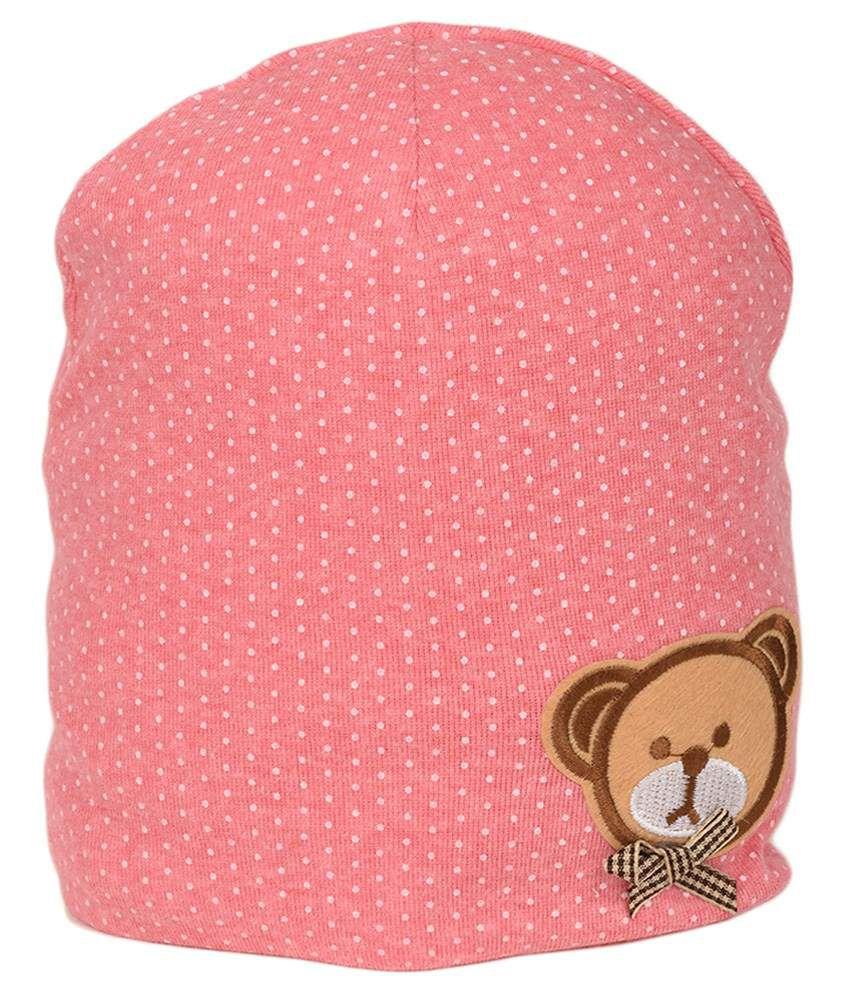 Tiekart Pink Cotton Baby Cap