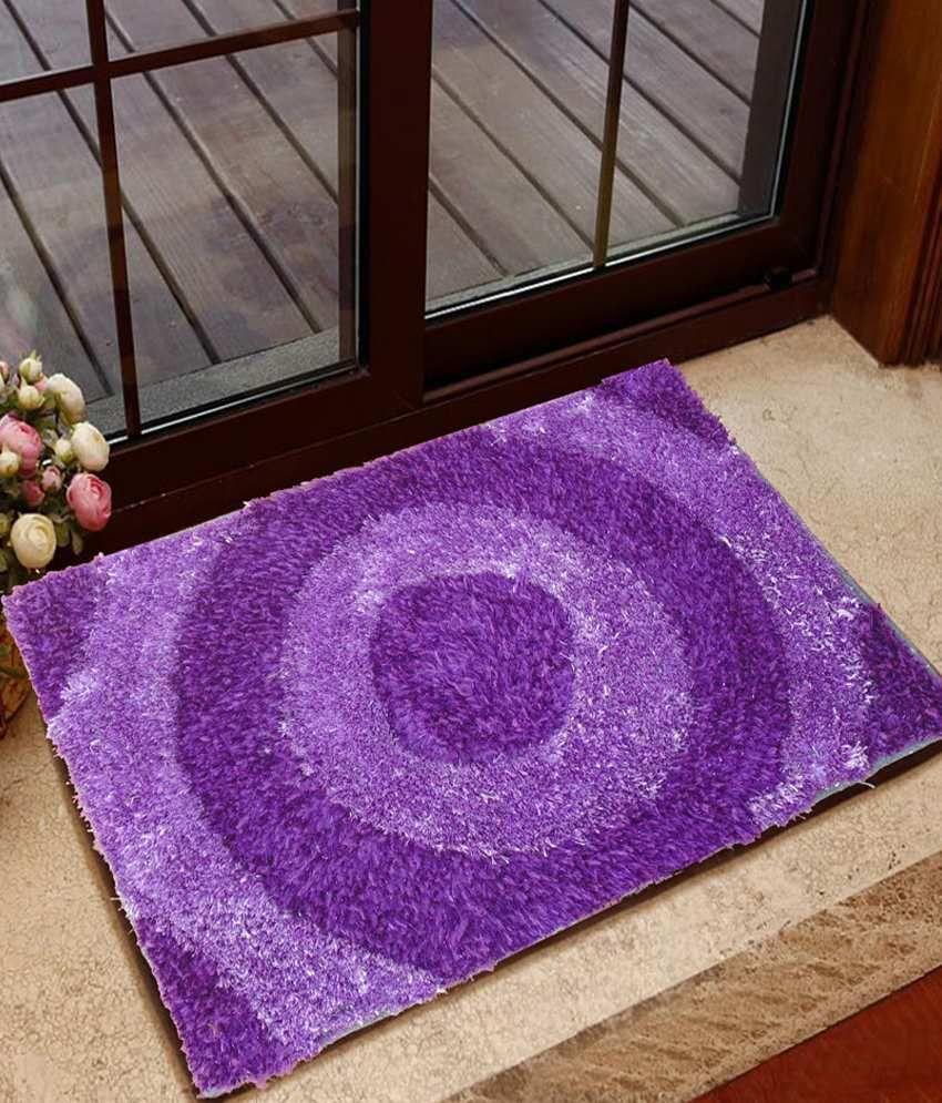 Presto Purple Polyester Floor Mat