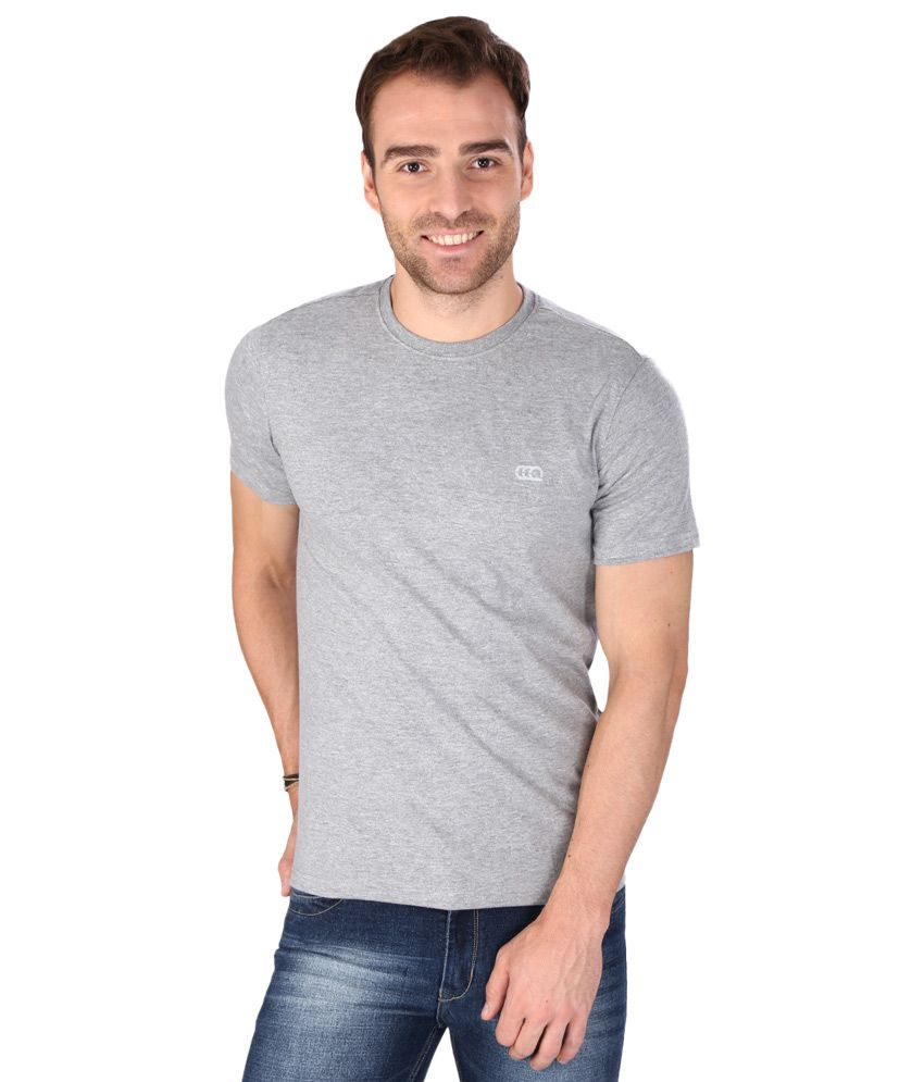 Ajile by Pantaloons Grey Round Neck T Shirt