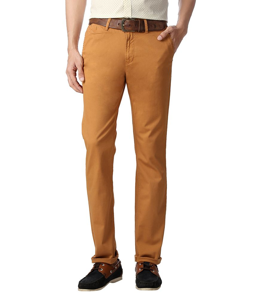 SF Jeans by Pantaloons Brown Trousers