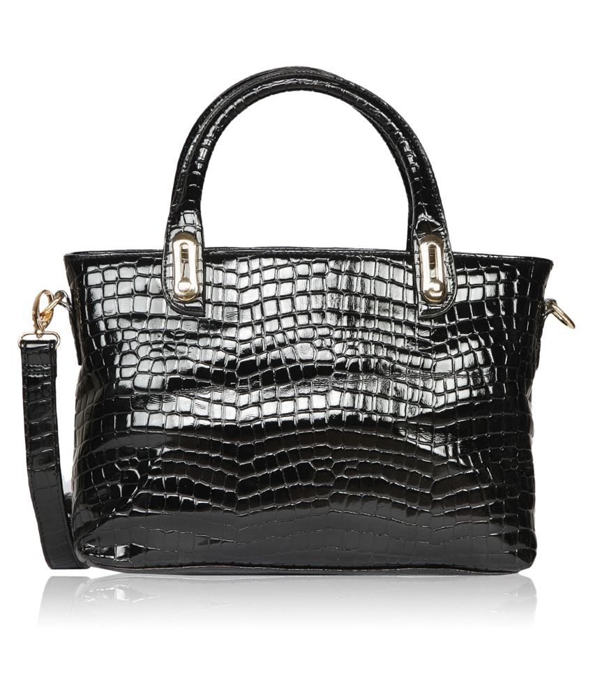 Bagkok Black Pu Satchel Bag