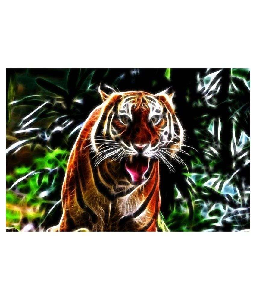 Poster Multicolour Tiger Nature Scenery Wallpaper Poster