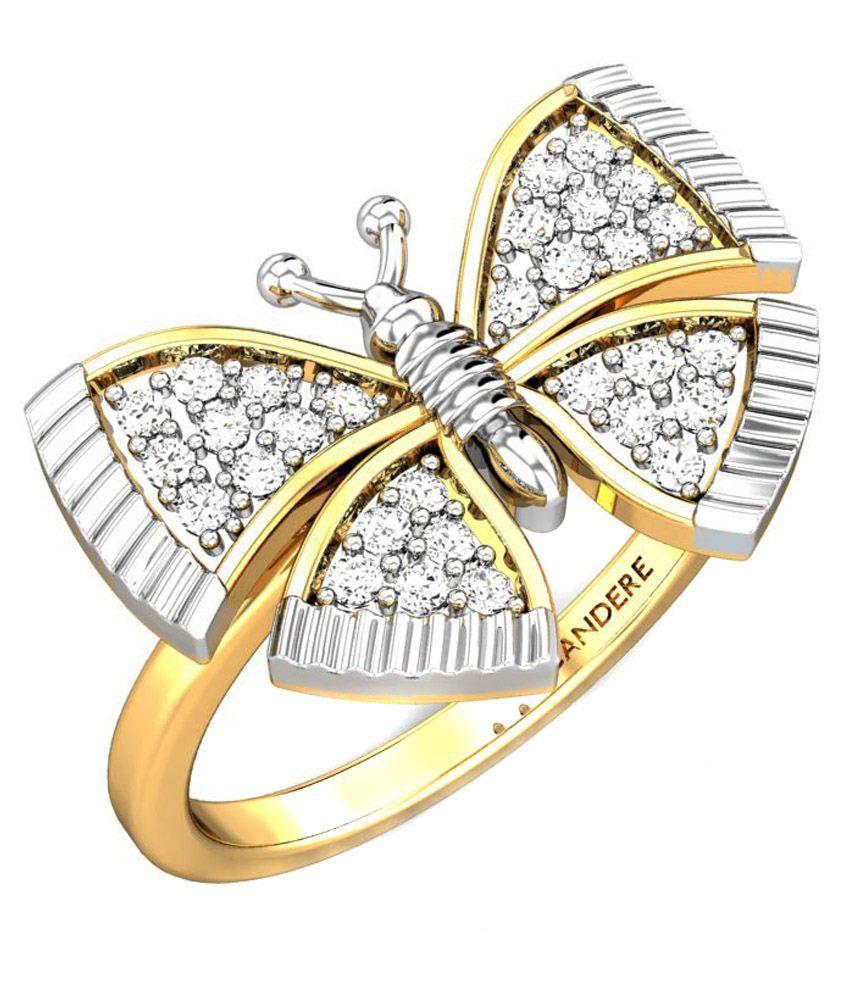 Candere Rosana Diamond Ring Yellow Gold 14K