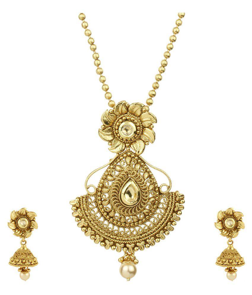 Mpu Value Mart Golden Alloy Necklace Set