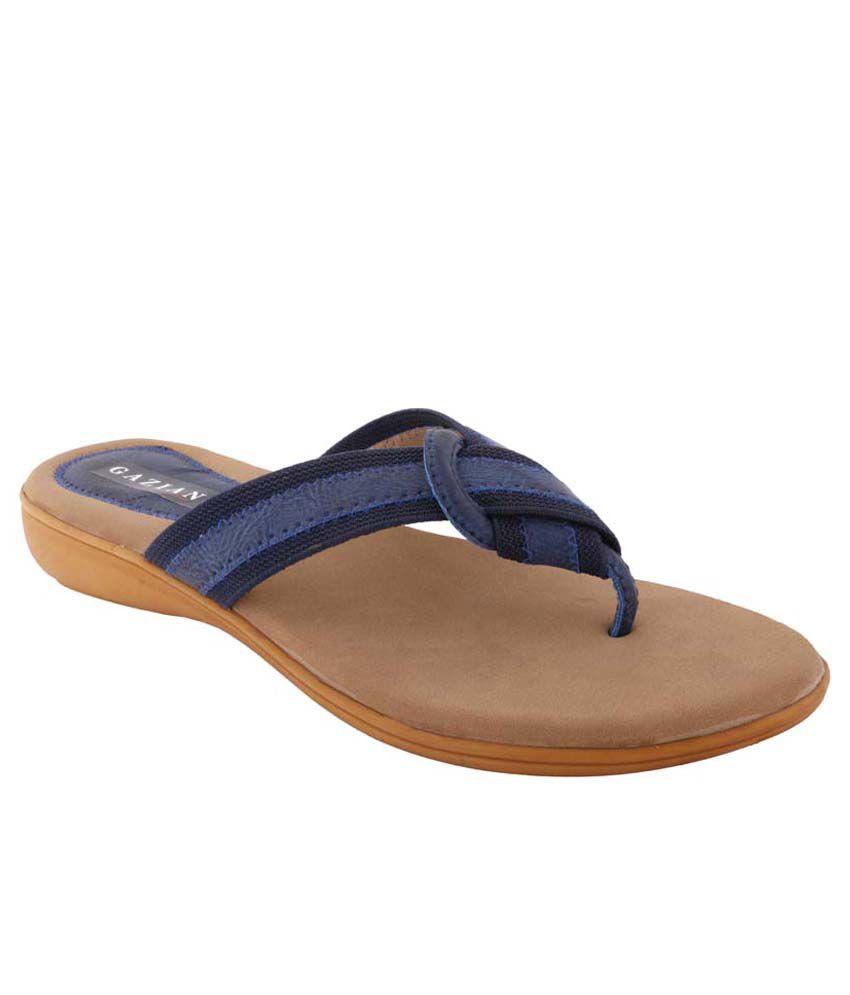 Gaziano Blue Wedge Heels