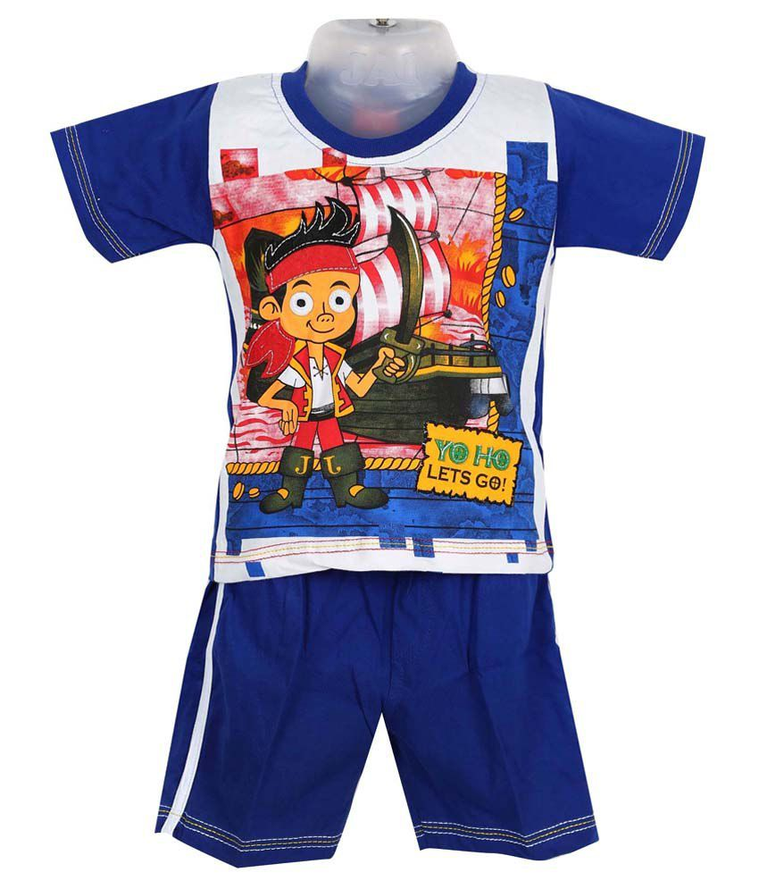 Shinchan Blue T Shirt & Short For Boys