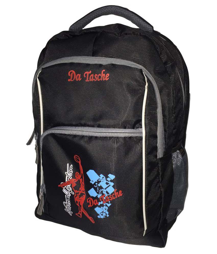 Da Tasche Black Polyester College Bag