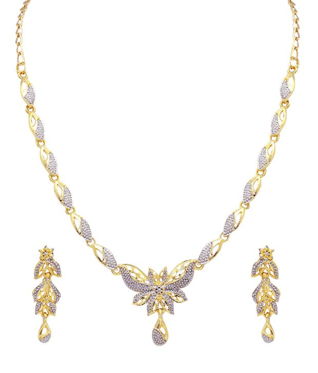 Atasi International Golden Alloy Necklace Set