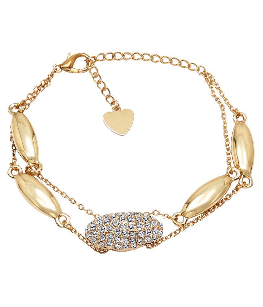 Sparkling Drop Gold Stainless Steel Bracelet
