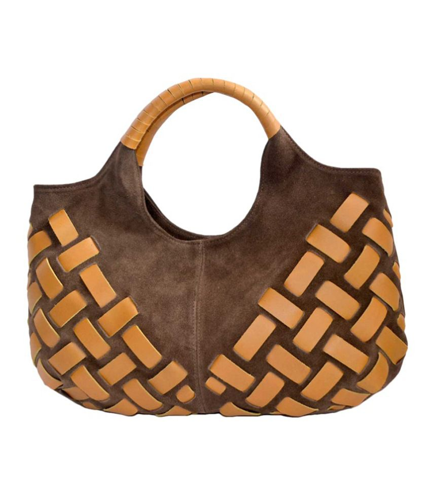 Anam Exim Brown Leather Shoulder Bag